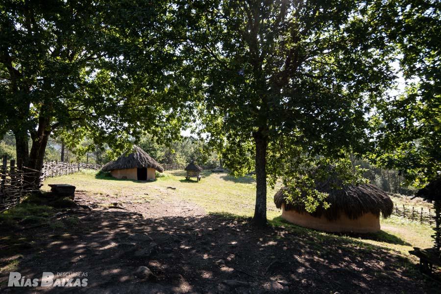 Recreación de un poblado de la Edad del Bronce