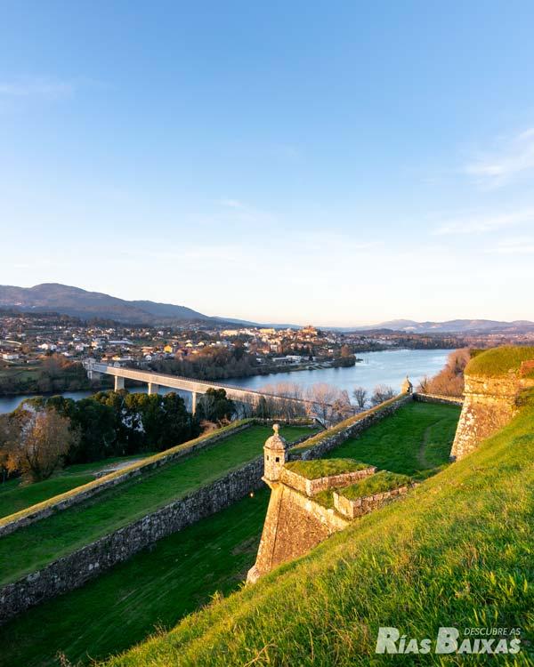 El río Miño desde la fortaleza de Valença